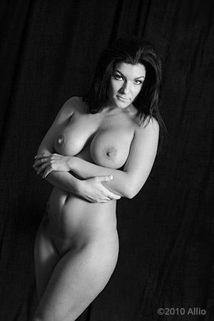 Allio original visual art affatta sommersa vecchia of nude gesture model Czarny Niebieski studia del gesta nuda
