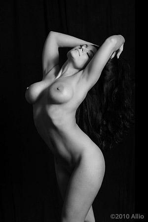 Allio original visual art senza sommersa vecchia of nude gesture model Czarny Niebieski studia del gesta nuda