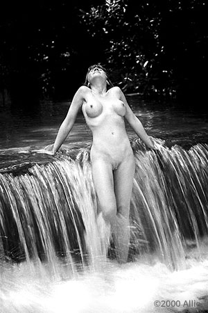 Allio original visual art scherzare 5303 of wet nude model Patricia Dove