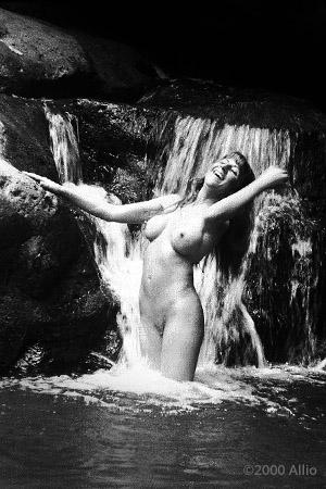 Allio original visual art scherzare 8001 of wet nude model Patricia Dove