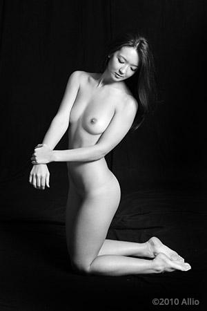 Allio original visual art fermaglia nude muse Cyn Swa life model respect nudity natural purity innocence