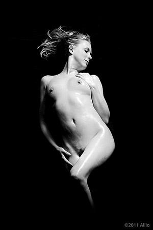 progettazione Allio original reclining figure artwork of life model Caramella Domenica nude muse