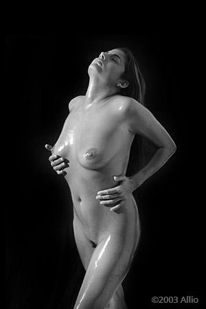 gratificazione indulgenza Allio originale arte fotografia di Melissa Penn musa nuda