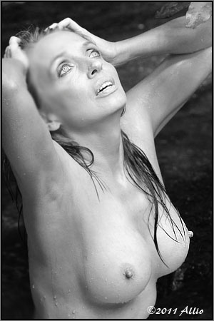 exigency Allio original topfree portrait of timeless model Maria Whitaker nude muse orgasmic refreshment