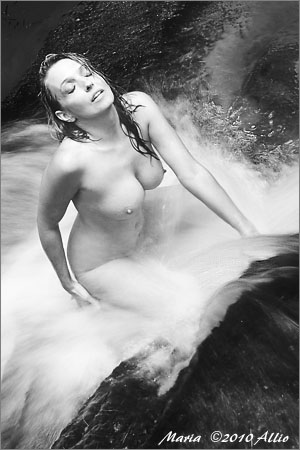 sexed original artwork by Allio of orgasmic waterplay named by timeless Maria Whitaker nude muse in Water
