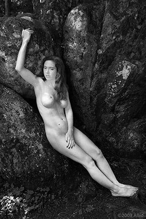 incallita cattivi ramo di pietra Allio originale arte fotografia di Fierce Sonia musa nuda