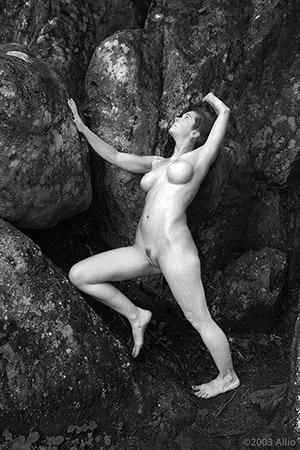 indurita cattivi ramo di pietra Allio originale arte fotografia di Fierce Sonia musa nuda